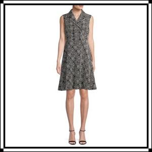 Donna Karan New York sleeveless tweed dress